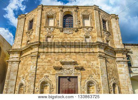 Church Of San Domenico Al Rosario, In Gallipoli, Italy