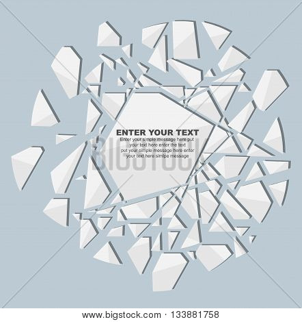 CRUSHED ELEMENTE TEMPLATE MESSAGE STICKER SECOND EDITION WHITE