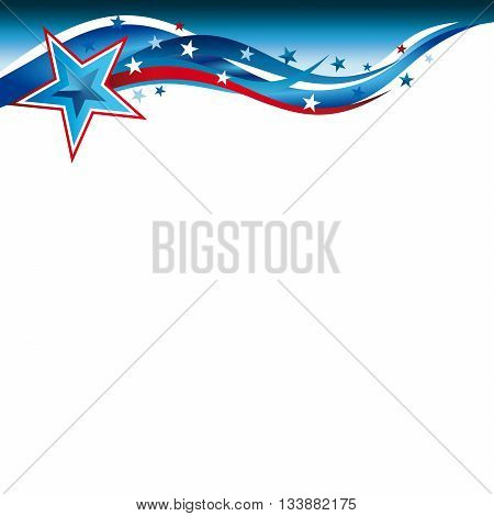 An abstract stars and stripes illustration for the United States Patriotic header design