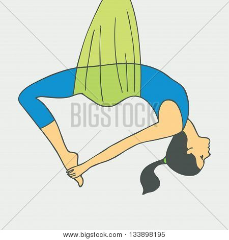 Aerial Yoga. Aero Yoga. Anti-gravity Yoga. Women doing anti gravity yoga exercise.