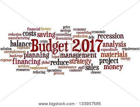 Budget 2017, Word Cloud Concept 2
