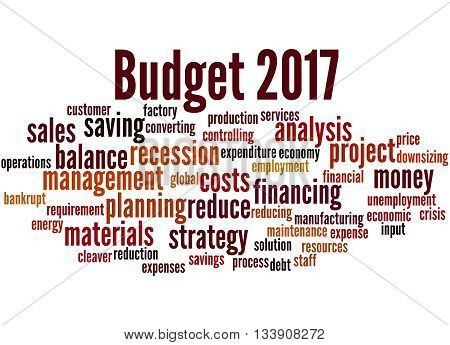Budget 2017, Word Cloud Concept 8