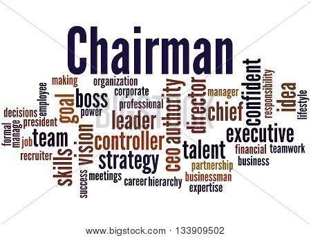 Chairman, Word Cloud Concept 8