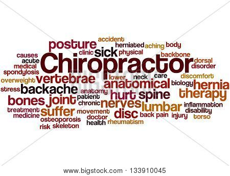 Chiropractor, Word Cloud Concept 9