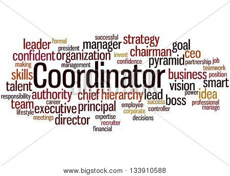 Coordinator, Word Cloud Concept 8