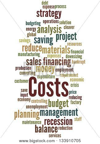 Costs, Word Cloud Concept 2