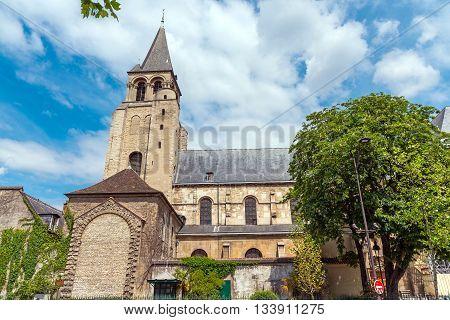 The Abbey of Saint-Germain-des-Pres in Paris, France