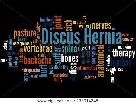 Discus Hernia, Word Cloud Concept 5