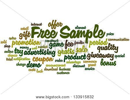 Free Sample, Word Cloud Concept