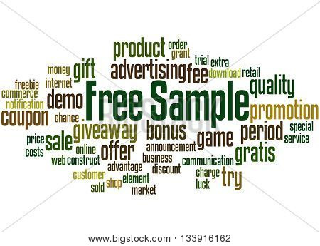 Free Sample, Word Cloud Concept 8