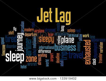 Jet Lag, Word Cloud Concept 4