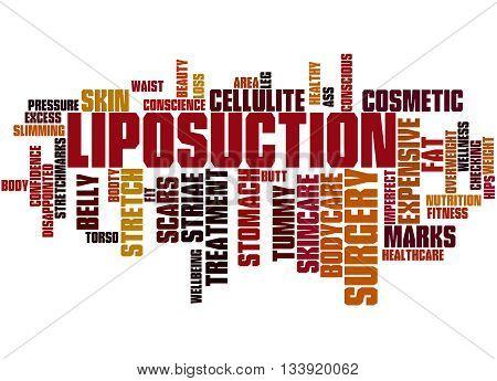 Liposuction, Word Cloud Concept 3