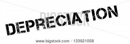 Depreciation Black Rubber Stamp On White