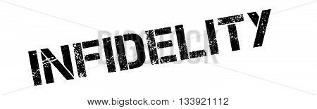 Infidelity Black Rubber Stamp On White