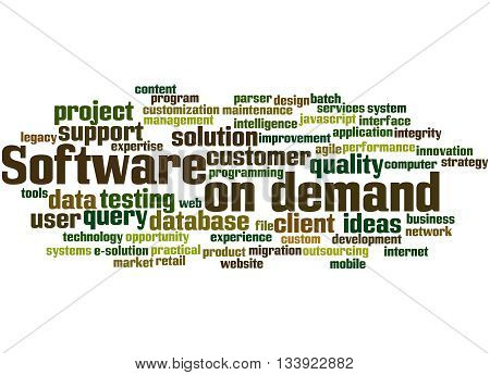 Software On Demand, Word Cloud Concept