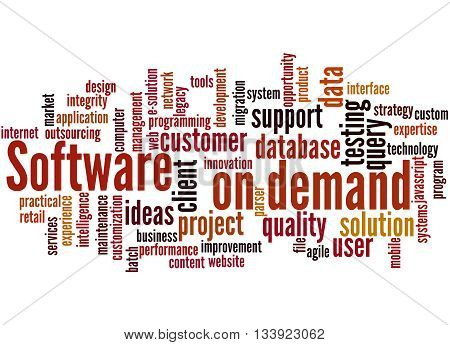 Software On Demand, Word Cloud Concept 9
