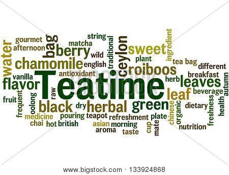 Teatime, Word Cloud Concept 6