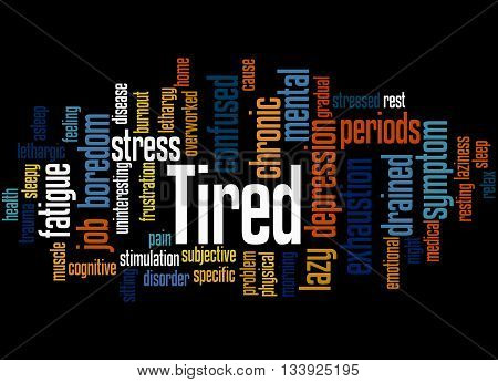 Tired, Word Cloud Concept 6