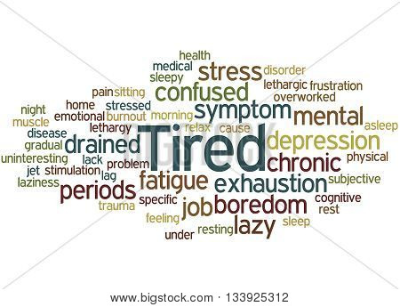 Tired, Word Cloud Concept 8