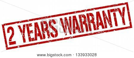 2 Years Warranty Stamp. Vector. Stamp. Sign. 2.years.warranty. Red.