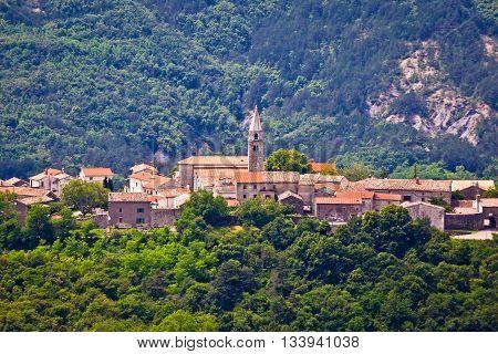 Village of Roc in istrian inland Istria Croatia