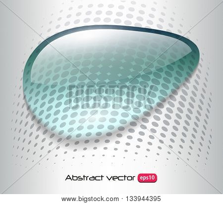 Abstract background with blue dew. water drop over halftone background, vector design