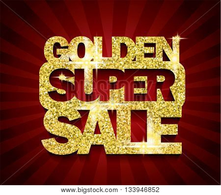 Golden Super Sale concept vector banner. sale layout design. rich and fashion vector illustration