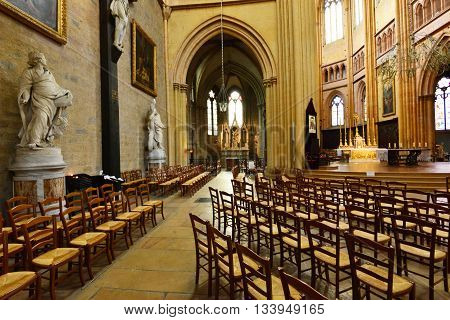 Dijon France - april 22 2016 : the Saint Benigne cathedral