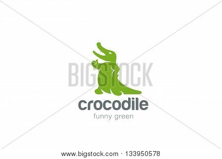 Crocodile Logo abstract design vector Alligator reptile icon