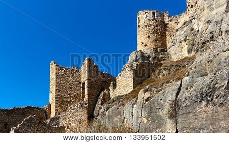 Castle of Morella. Morella is an ancient city located on a hill-top in the province of Castellon Valencian Community Spain