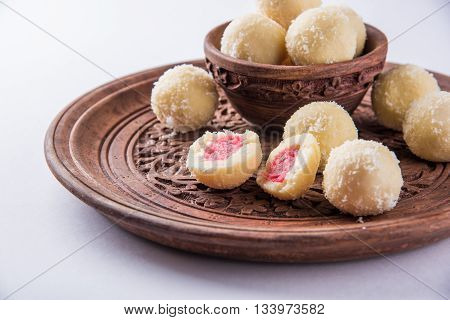 Kheer kadam or khir kadam is a Bengali sweet poster