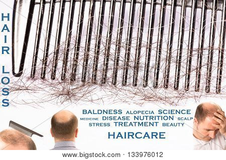 Baldness hair loss alopecia 4 pictures mixed message treatment healthcare France