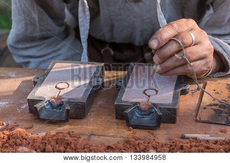 Craftsmen format for Bronze casting model in the form sandbox