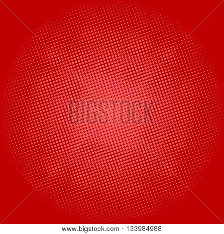 Pop Art Background, Dots on Red Background,Halftone Background, Retro Style, Vector Illustration