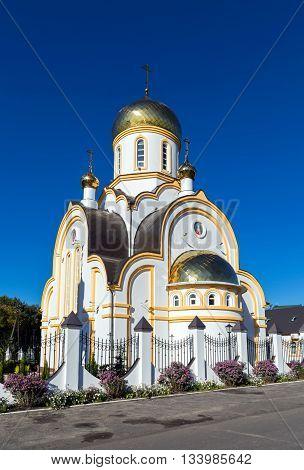 Temple of Saint regal Passion bearer Nicholas and Alexandra, . Kursk. Russia