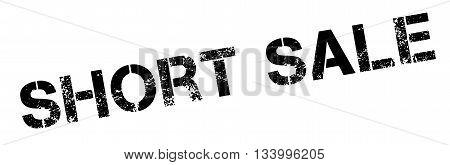 Short Sale Black Rubber Stamp On White