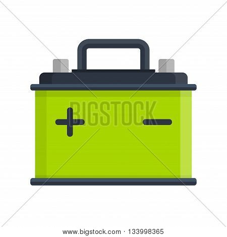 Car Battery icon isolated on white background. Accumulator battery energy power and electricity