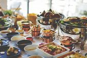 Food Catering Cuisine Culinary Gourmet Buffet Party Concept poster