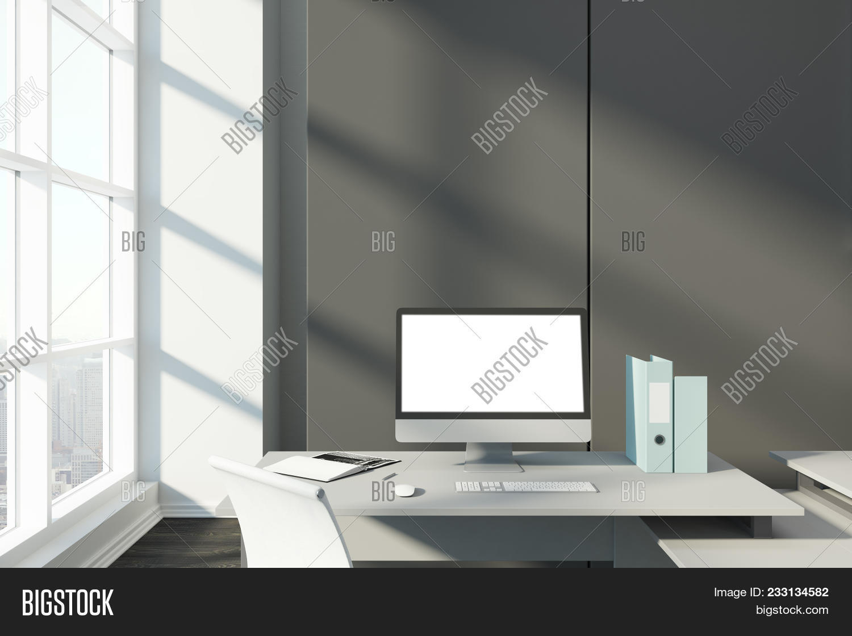 Close Desktop Empty Image Photo Free Trial Bigstock