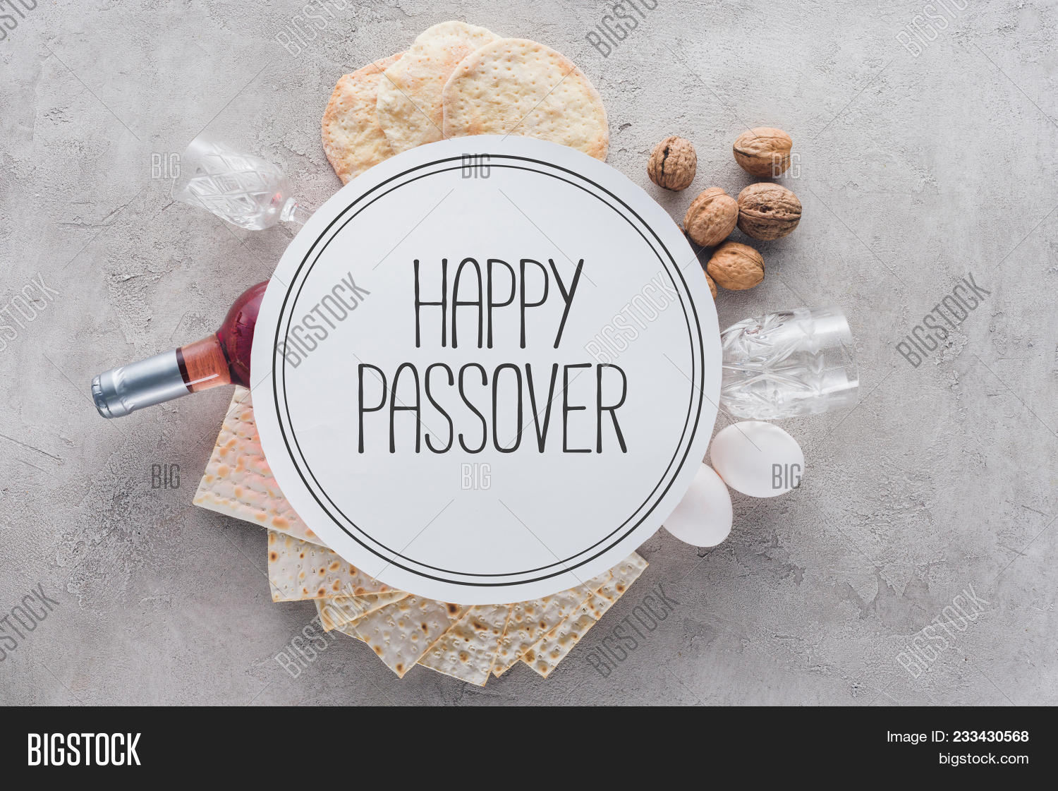 Top view matza plate image photo free trial bigstock top view of matza and plate with happy passover greeting jewish passover holiday concept m4hsunfo