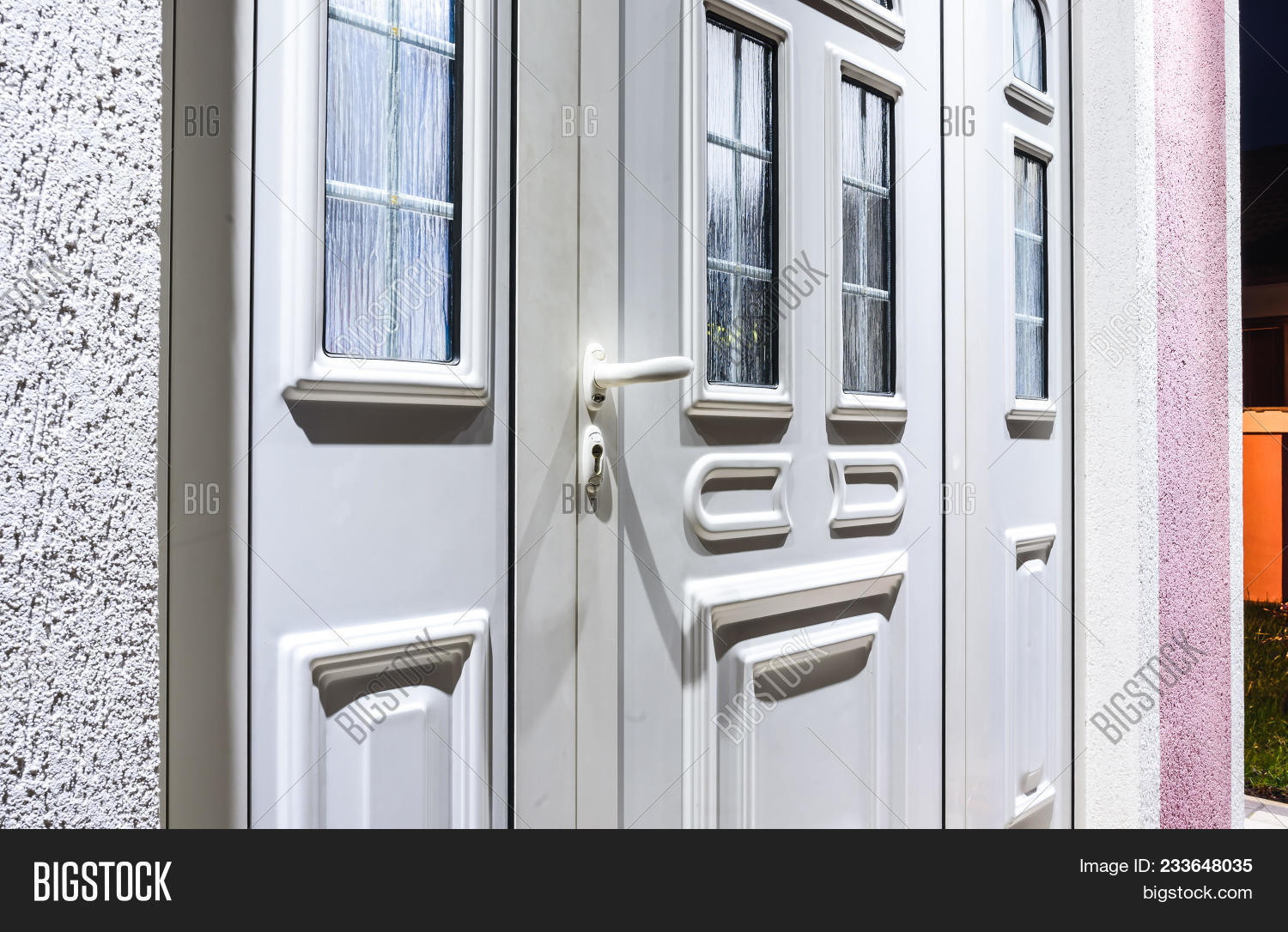 Front Door Pvc White Image Photo Free Trial Bigstock