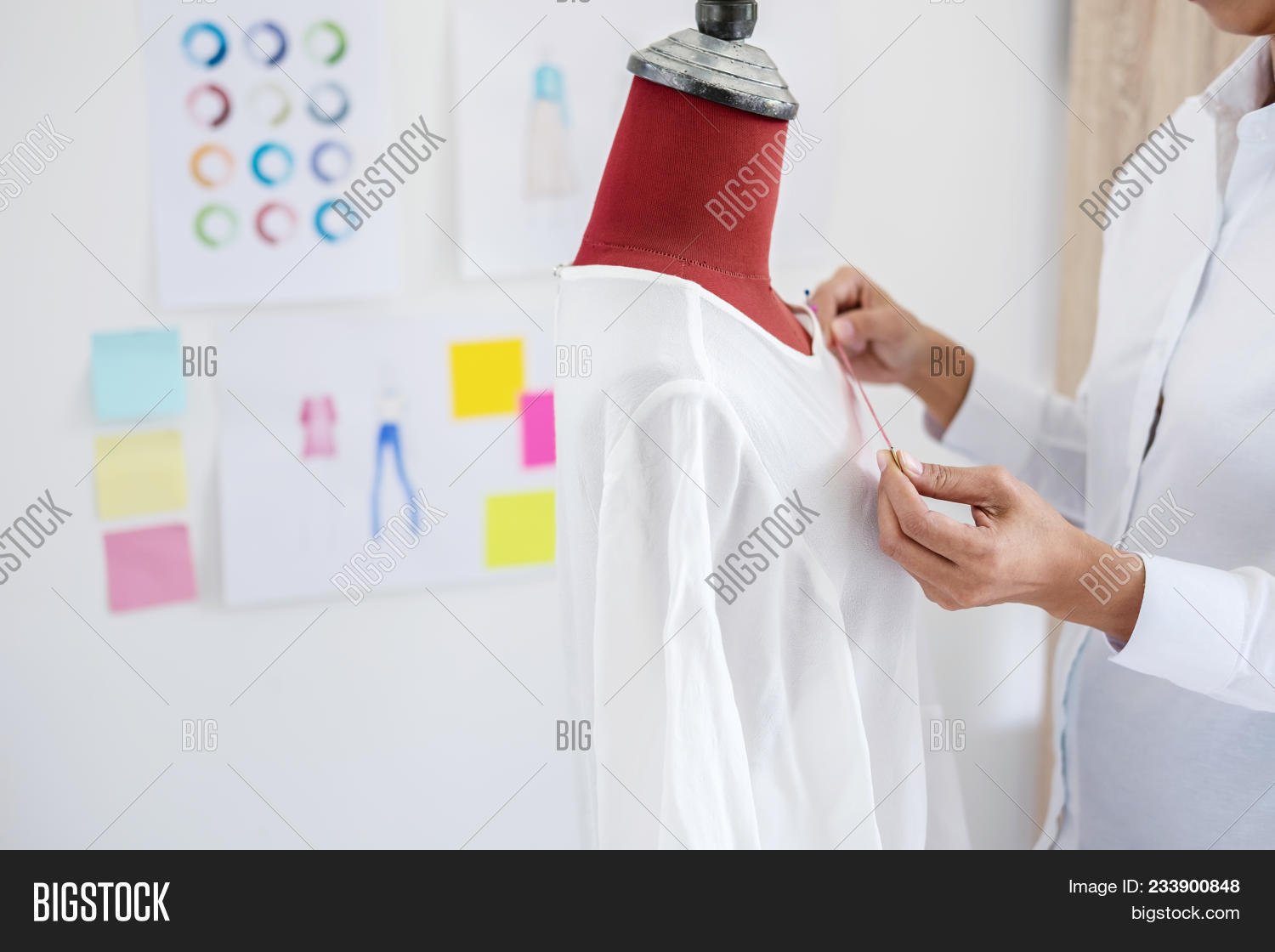 Young Woman Dressmaker Image Photo Free Trial Bigstock