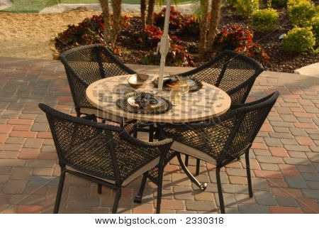 Patio Table Is Set