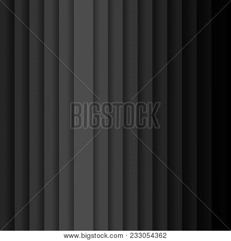 Vertical Vector Stripes With Shadow Abstract Dark Background Pattern With Diagonal Stripes From Gray
