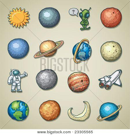 Freehands icons - planetarium