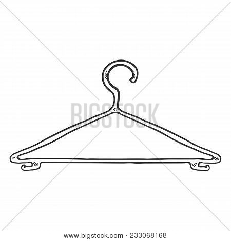 Vector Single Sketch Wardrobe Shoulder Hanger