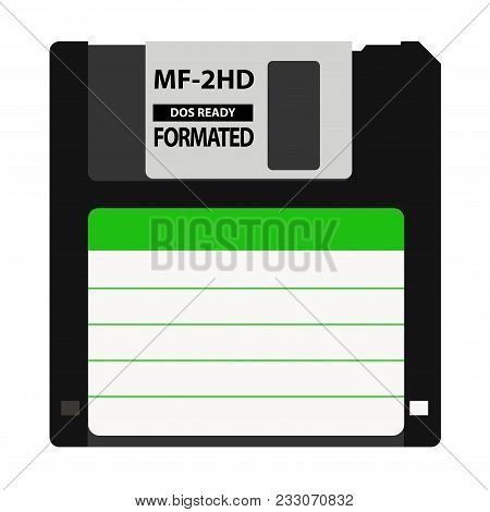 The Floppy Disk In The 3.5-inch Is Used In Older Computers. It Can Be Used As A Symbol Of The Histor
