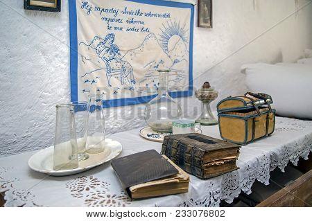 Nadlac, Romania - November 29, 2016: Specific Objects From One Interior Of Slovakian Farmhouse, The