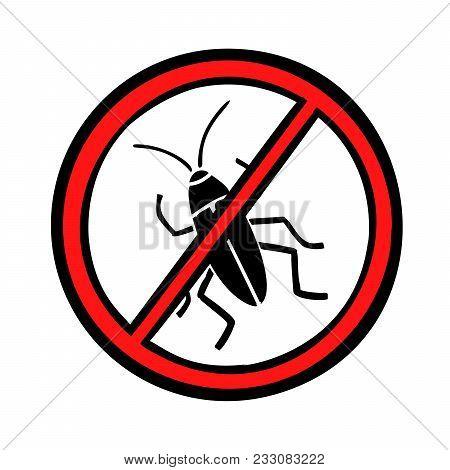 Pest Control Cockroaches Icon Symbol. Comic Cartoons Pop Art Retro Vector Illustration Kitsch Drawin