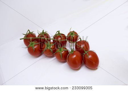 Bunch Of Ripe Cherry Tomatoes From Israel